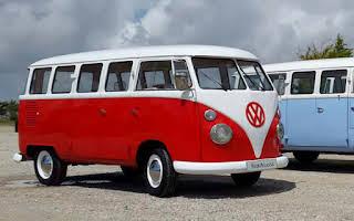 Volkswagen T1 Splitscreen Vermelha Rent Évora
